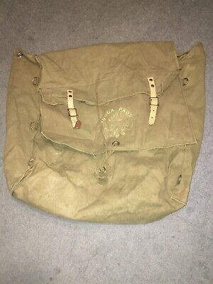 Vintage BOY SCOUT Canvas BACKPACK NO. 185 YUCCA PACK BSA