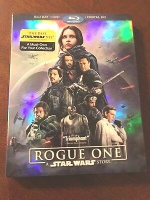 Rogue One A Star Wars Story (Blu-ray/DVD, 2017, 3-Disc Set,Includes Digital Code