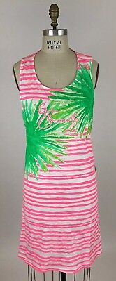 c2c0418c2c NWT Lilly Pulitzer Whitney Coverup Coral Reef Gone Coconuts Engineered Sz XL