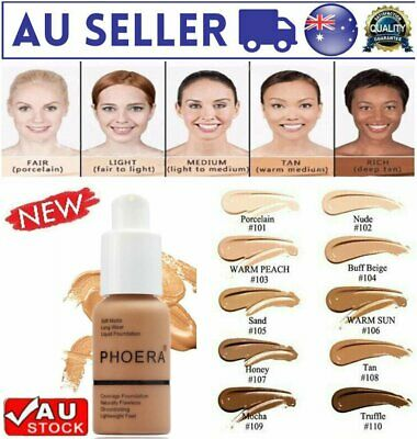 AU  Soft Matte Full Coverage Liquid Foundation Concealer Longlasting hot