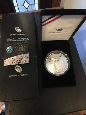 IN HAND 2019-P Apollo 11 50th Anniversary 5 oz. Silver Dollar Proof Curved Coin