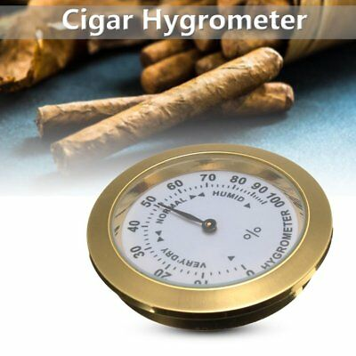 Brass Analog Hygrometer Cigar Tobacco Humidity Gauge &Glass Lens For Humidors LB