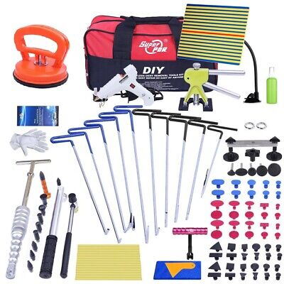 108-Piece PDR Tools Dent Repair Auto Car Body Dent Remover Push Rods Puller Kits