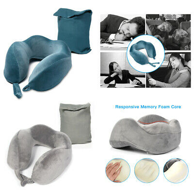 Neck Support Memory Foam Rebound Travel Pillow U-shape Headrest Soft Car Flight#
