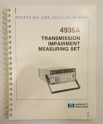 HP 4935A Transmssion Impairment Measuring Set Manual