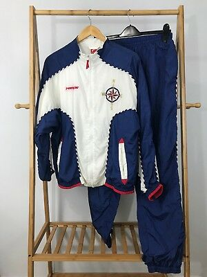 VTG White Stag Women's 80s Tracksuit Two Piece Windbreaker Jacket Pants Size M