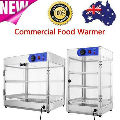 Commercial Food Warmer - Stainless Steel Pizza Pie Hot Display Showcase Cabinet