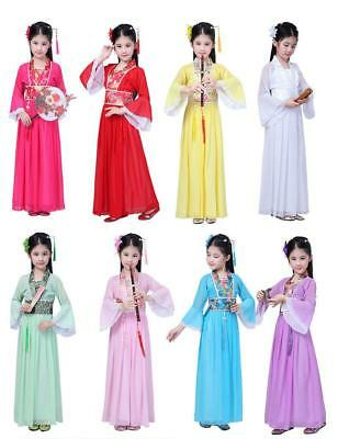 Kid's Ancient Costume Chinese Han Tang Costume Girls Princess Dress Cosplay Sets