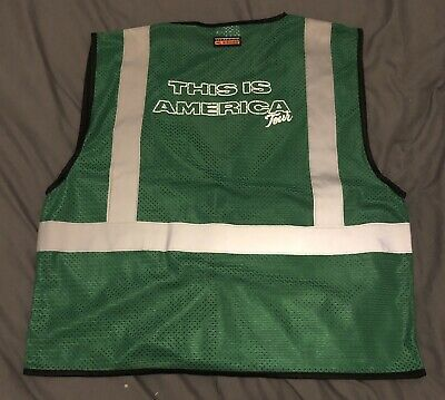 ChildISH Gambino THIS IS AMERICA workers On Tour Limited Run  Tour Vest