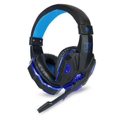 Soyto 3.5mm Gaming Headset MIC LED Headphone for PC Laptop PS4 Slim Xbox One NS