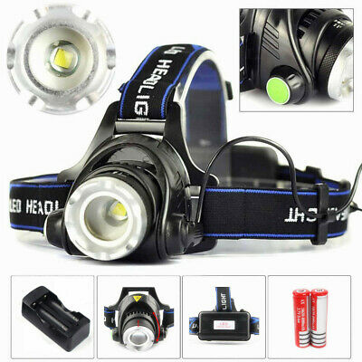 Rechargeable 12000LM Portable XML T6 LED Headlight 18650 Torch Headlamp UK