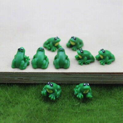 5Pcs Mini Lovely Resin Frog Kids Dollhouse Miniature Model Ornament Decor Set