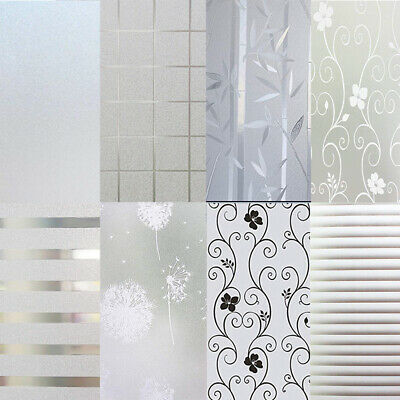 White Frosted Window Film Frost Etched Glass Static Plastic PVC Width 60cm UK
