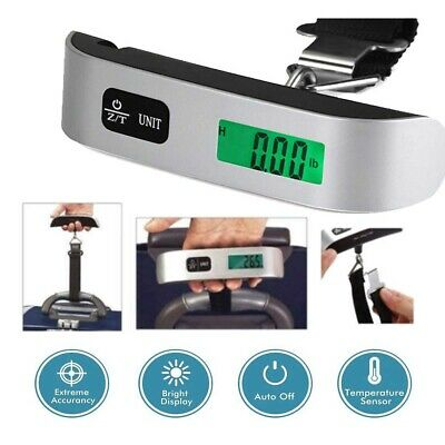 Portable Travel Tare 110lb 50kg Hanging Digital Suitcase Luggage Scale US STOCK
