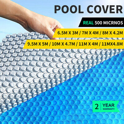 Solar Swimming Pool Cover 500 Micron Outdoor Blanket Isothermal 7 Size 5 YR WRTY
