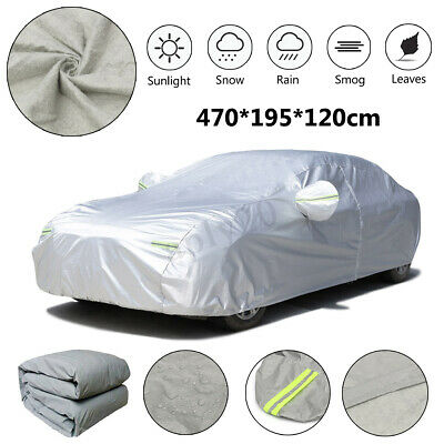 Universal L Large 3Layer Full Car Cover Cotton Waterproof Breathable Rain Snow