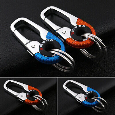 Keychain Key Ring Hook Outdoor Stainless Steel Buckle Carabiner Climbing Random