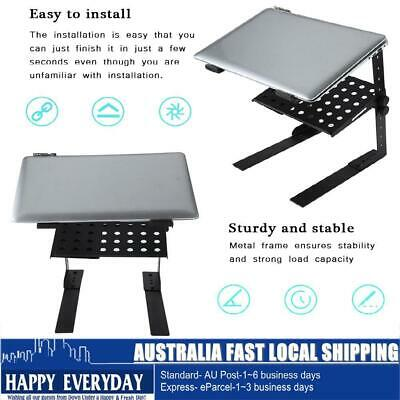 Adjustable Portable Floding DJ Laptop Computer Holder Stand Support W/ Tray HOT