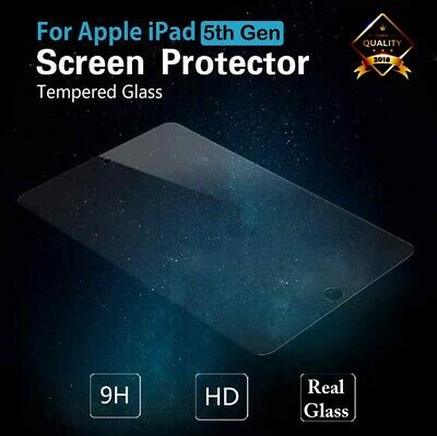 Tempered Glass Screen Protector for Apple iPad 5th Gen 2017 A1822/A1823
