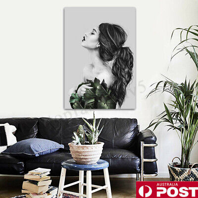 Modern Canvas Print Painting Nordic Girl Wall Art Picture Home Decor Unframed AU
