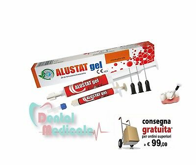 Alustat Gel emostatico dentale e retrattore gengivale,10ml+dispenser+applicatori