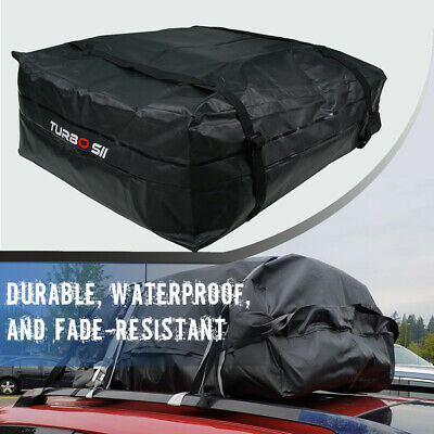 UNIVERSAL BLACK WATERPROOF ROOF TOP CARGO CARRIER BAG TRAVEL LUGGAGE STORAGE TA
