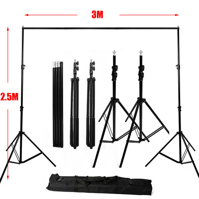 2.5x3m Photo Studio Heavy Duty Adjustable Background Backdrop Support Stand +Bag