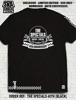 The Specials 40th Anniversary T shirt. Run of 500 only. Exclusive. S - 5XL