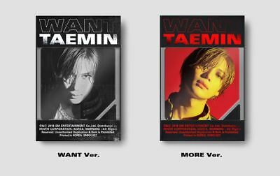 TAEMIN SHINEE WANT 2nd Mini Album 2 Ver. 2 KIHNO + 26 PHOTOCARD 2 POSTER IN TUBE