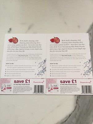 Olay Daily Facials 2 X Save £1 At Superdrug Vouchers