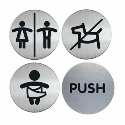 Stainless Steel Circular Door Signs.Door Signs. Staff Signs. Health and Safety.