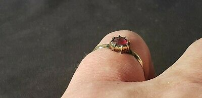 Exquisite stunning Tudor ring with real Ruby. A must read description L87w