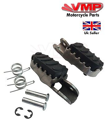 New Sachs SFM ZX125, ZZ125 Rubber Left Right Front Riders Footrest Pegs