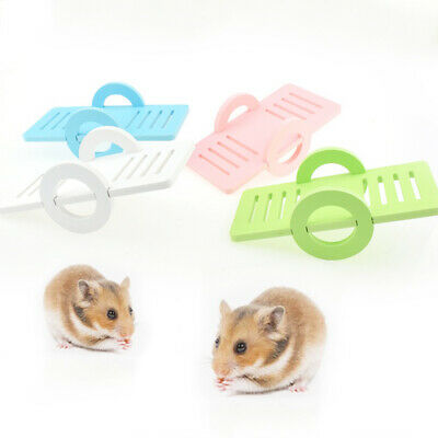 Pet Hamster Seesaw Toy Small Animal Gerbil Rat Exercise Board Play Toy Funny