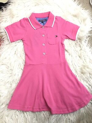 New Girl Tommy Hilfiger Polo Dress In Pink 3/5/6/7