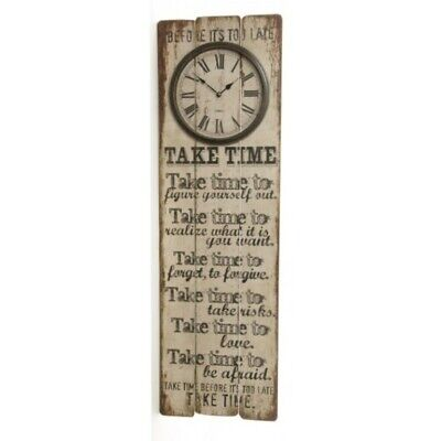 Clock Xtra Large Wooden Wall Clock Take Time In A Distressed Finish