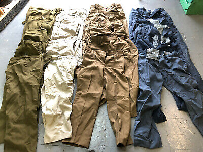 Job lot of 20 x pairs of British army  / military surplus trousers