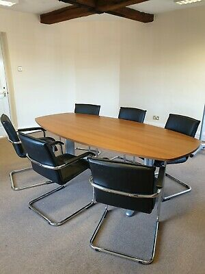 2.2m conference boardroom  table and 6 chairs