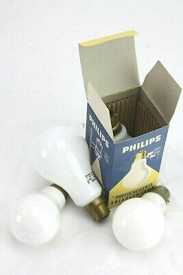 LOT FOUR  vintage PHILIPS ENLARGER BULBS, Photocrescnta 240v 150w BC AND 3 other