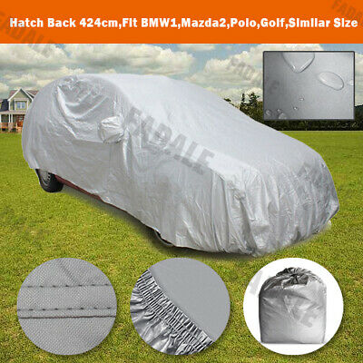 Medium Size Full Car Cover Breathable Water Resistant Fabric Sun Proof WCH0S