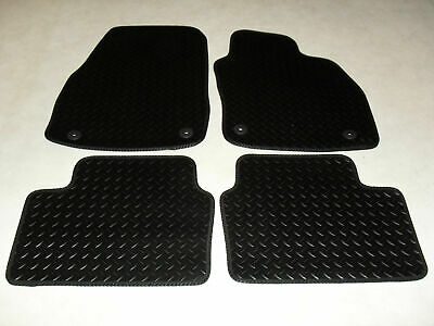 Rubber Vauxhall Astra H MK5 2004 TO 2009 Tailored Car Mats - Black