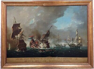 19th century French School Large oil painting on canvas gilt frame