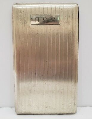 Vintage Antique Elgin Solid Sterling Silver Usa Made Cigarette Case