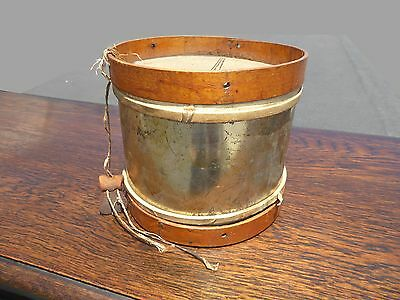 Antique Toy Drum w Leather Top