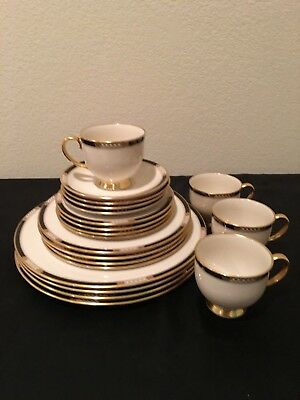 Lenox China ~ Hancock Gold ~ 20 Pc Set ~ Service For 4 ~ *