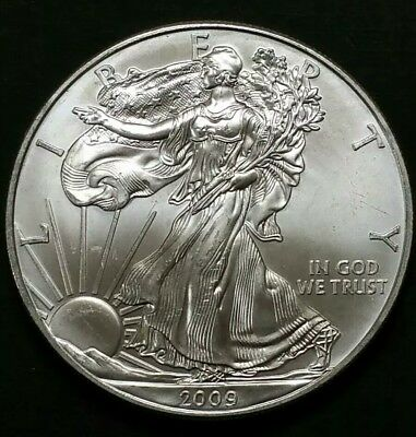 2009 $1 American Eagle Silver Dollar .999 Fine Silver Bullion Coin 1 Oz Liberty