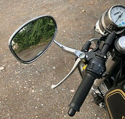 SINGLE HANDLEBAR END MIRROR TO SUIT BSA CAFE RACER