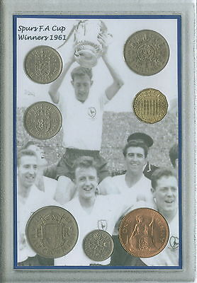 Tottenham Hotspur Spurs Vintage F.A Cup Final Winners Retro Coin Gift Set 1961