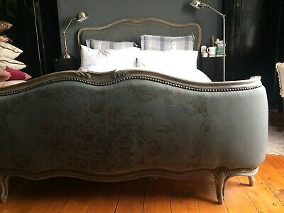 Antique French Double Bed in Grey Unique Piece