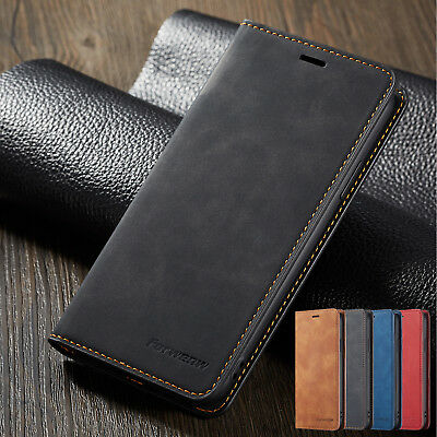For Apple iPhone 6s 7 8 XS XR Case Book Style Leather Wallet Magnetic Flip Cover